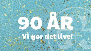 90 års fødselsdag – live på nettet